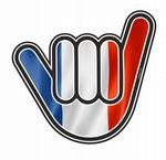 NO WORRIES Hand With France French Tricolore Flag Motif External Vinyl Car Sticker 105x100mm
